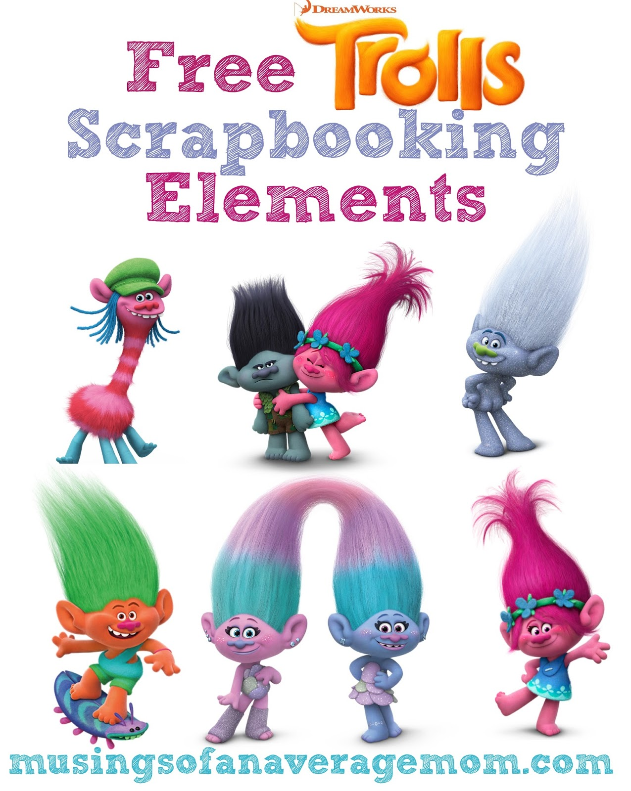 Musings of an Average Mom: Free Trolls Crafts