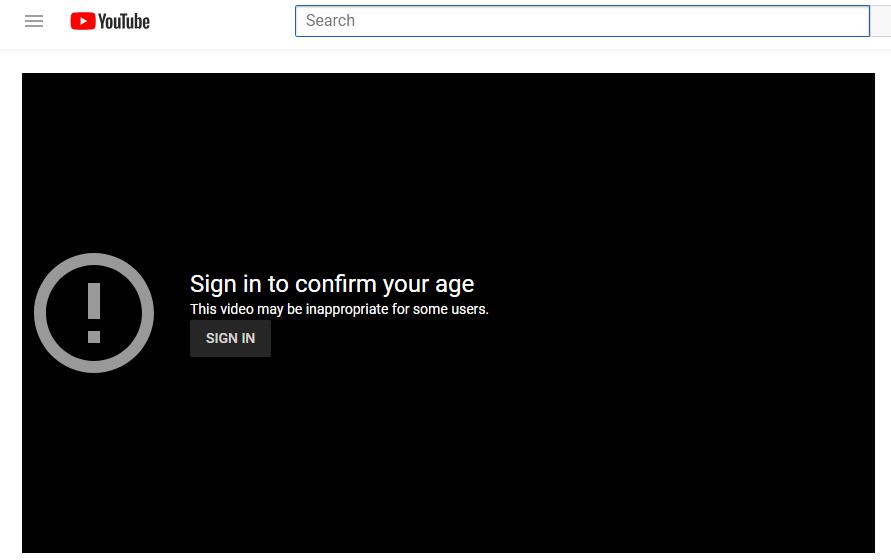 Konten terblokir video youtube