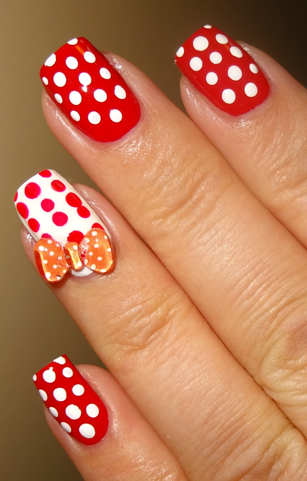 Bubble Nails: Wendy's Delights: Red Polka Bow Nail Bubble Charms From