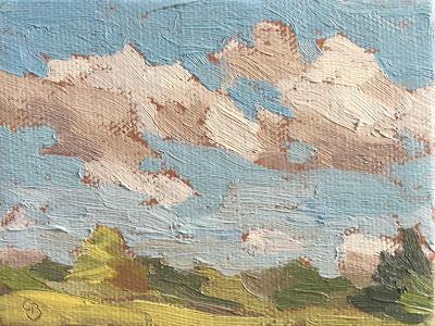 #44 'Sky Studies' 3×4″