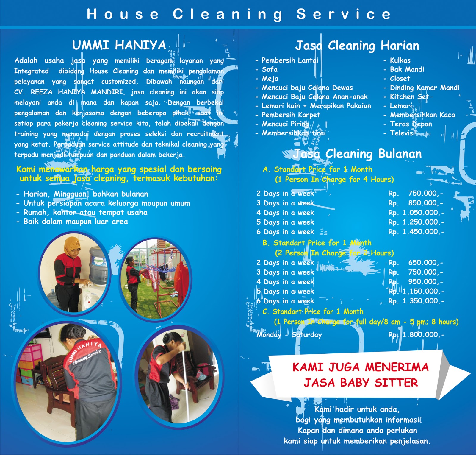Jasa Cleaning Service , House Cleaning & Gardening