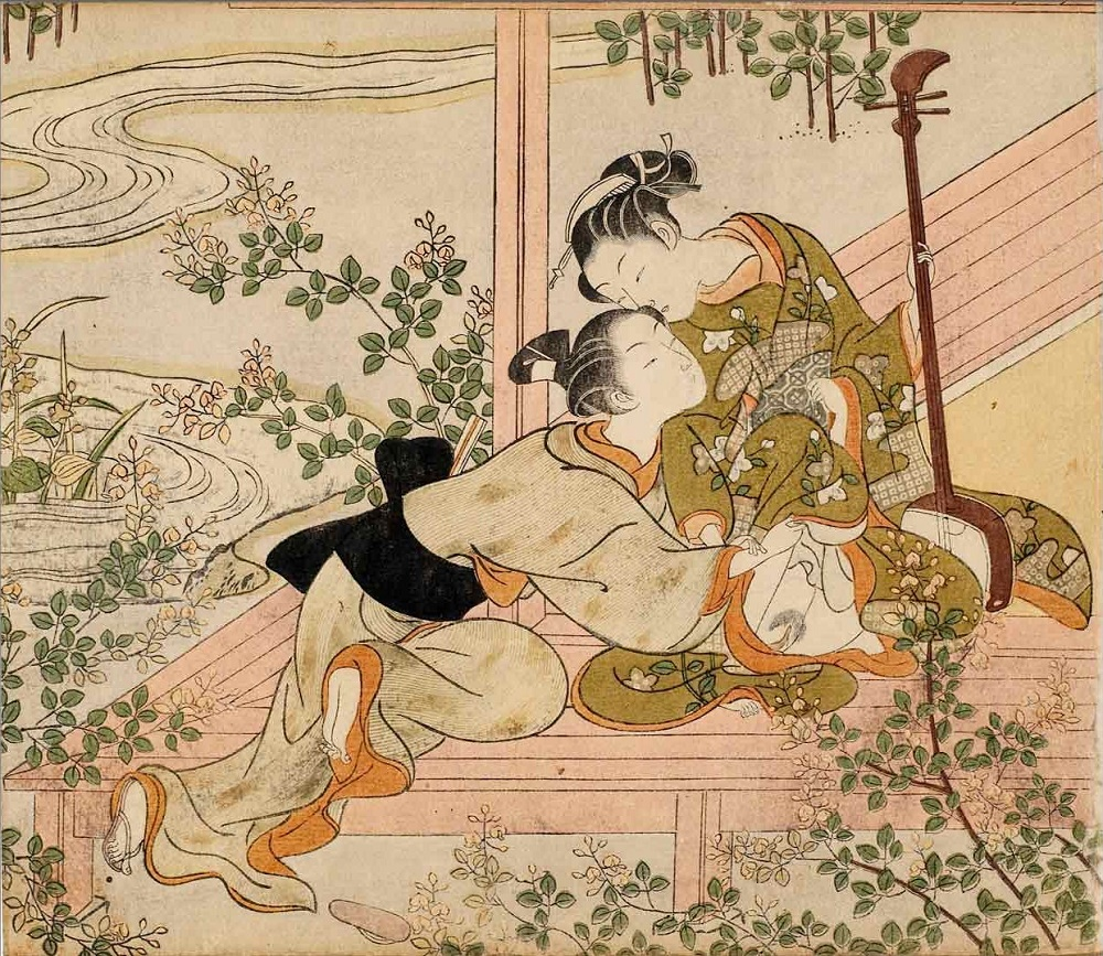 Rituals of ancient gay shunga erotica