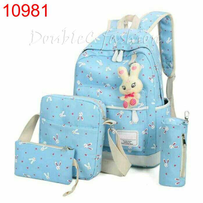 TASHIE BACKPACK RABBIT BLUE - 10981