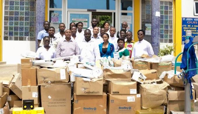 Deputy Minister of Information, Oppong Nkrumah gives to St. Joseph's Hospital on birthday