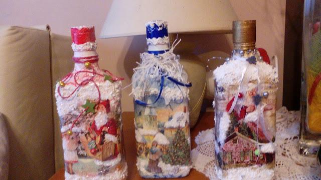 Butelki świąteczne