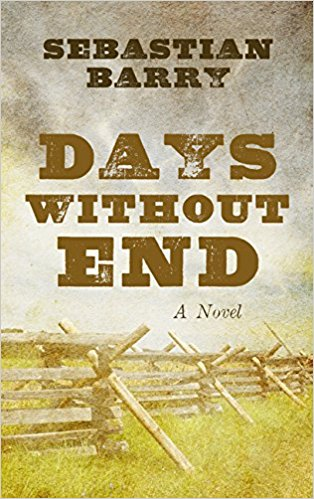 Book cover for Sebastian Barry's Days Without End in the South Manchester, Chorlton, and Didsbury book group
