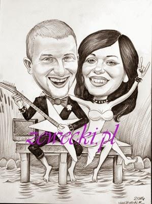 karikatur Bryllup