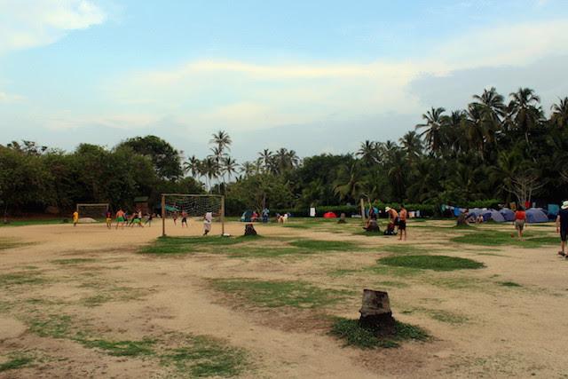 Football in El Cabo San Juan, Tayrona National Park, Colombia