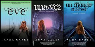 Portadas de los tres libros de la saga