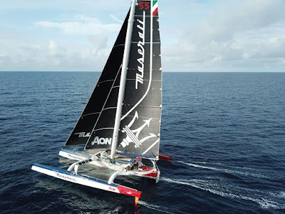 The record WSSRC has ratified the sailing record by Soldini and the team Maserati Multi 70