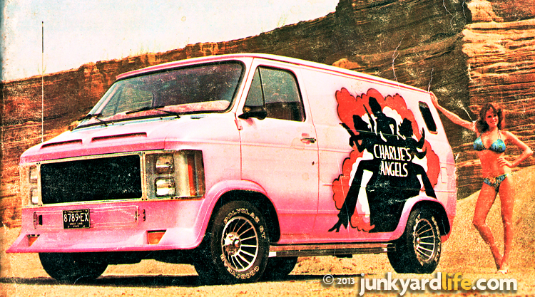 "A custom pink van was created for the ladies on the 1970s ""Charlie's Angels"" tv show."