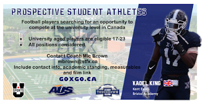 Play Football At Canadian University Level!