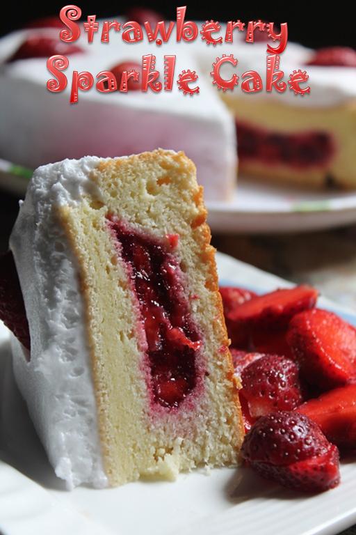 Strawberry Sparkle Cake Recipe Yummy Tummy