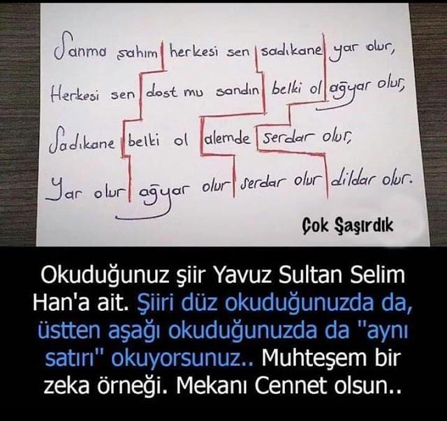 """""""Yâr Olur Ağyâr Olur Dildâr Olur Serdâr Olur"""""""