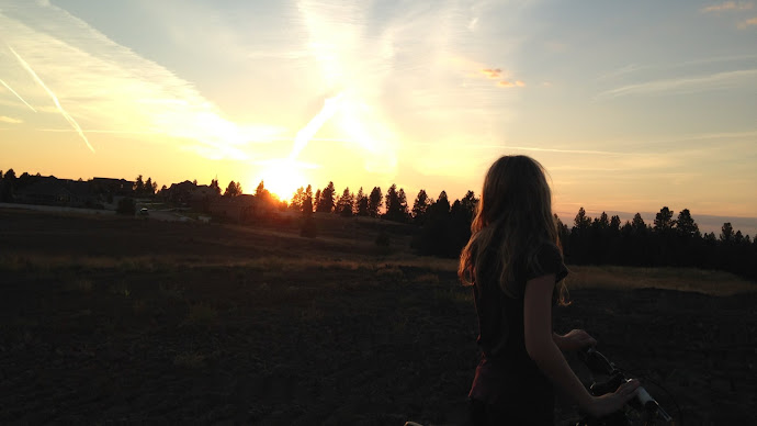 Wallpaper: Girl Looks at the Sunset