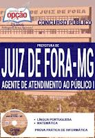 Apostilas Concursos Prefeitura de Juiz de Fora - PJF MG 2016.