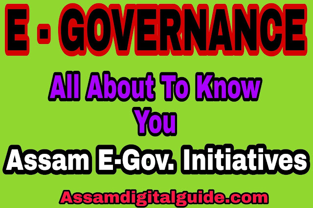 E-Governance electronic government and Assam Government electronic process