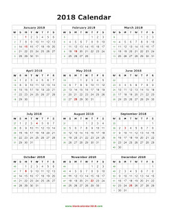 2018 printable calendar one page   Png Vectors, Photos