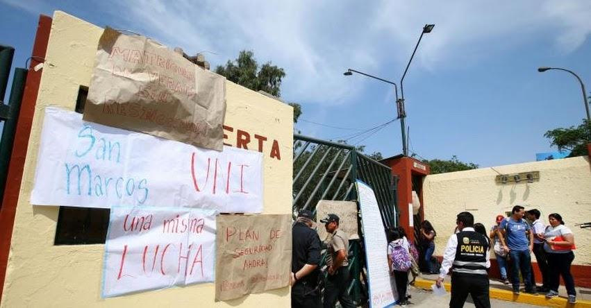 Estudiantes de la Universidad San Marcos tomaron la «ciudad universitaria» para exigir seguridad y cursos de verano