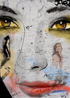 cuadros-con-caras de-mujeres-pinturas-artisticas mujeres-retratos-pinturas