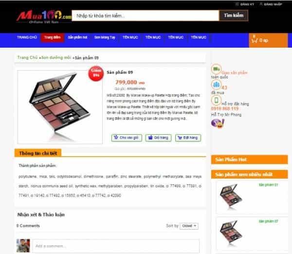 Download code template blogspot bán hàng chuyên nghiệp - Ảnh 1