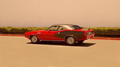 1971 Plymouth Barracuda Cuda Hemi Sports Coupe Rear Left