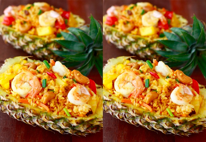 Pineapple Shrimp Fried Rice recipe by SeasonWithSpice.com
