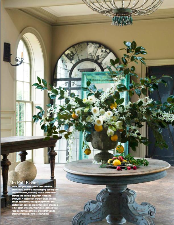 Large Arrangement For Foyer : Ariel dearie flowers for veranda magazine