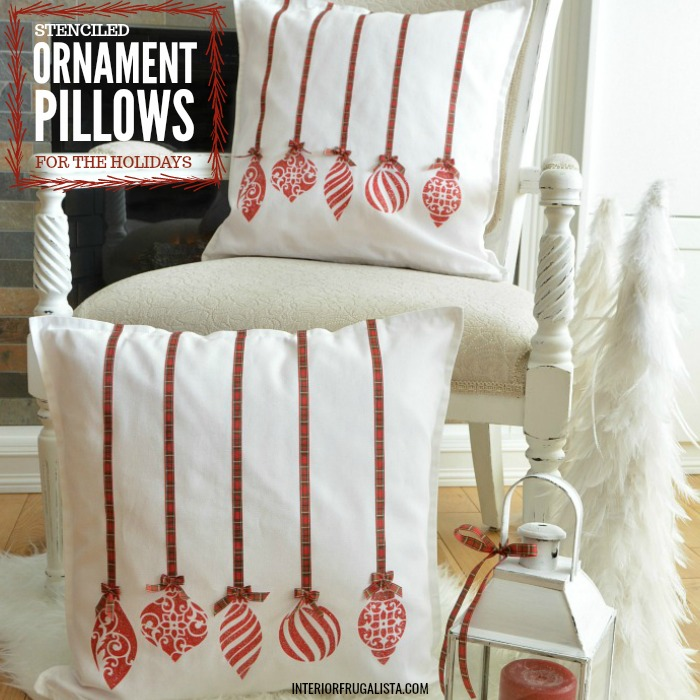 Holiday Ornament Pillow Covers DIY