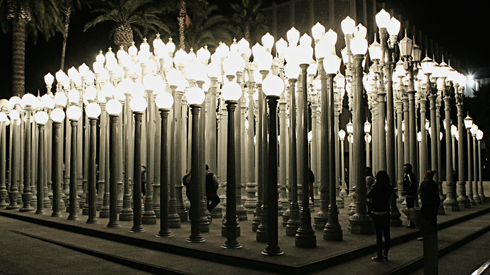 urban light street lamps lacma los angeles