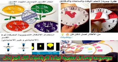 موسوعة وسائل تعليمية في الرياضيات لكل المراحل ( ملف هام لكل معلم رياضيات )