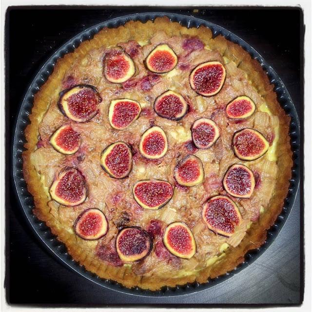tarte rhubarbe figues saine healthy