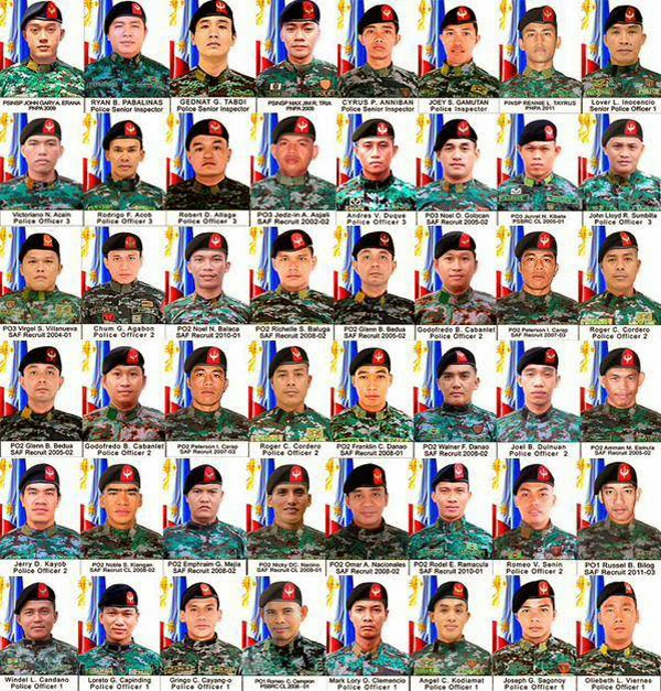 PNP - SAF Real Story Behind Masasapano, Maguindanao Incident The Fallen 44