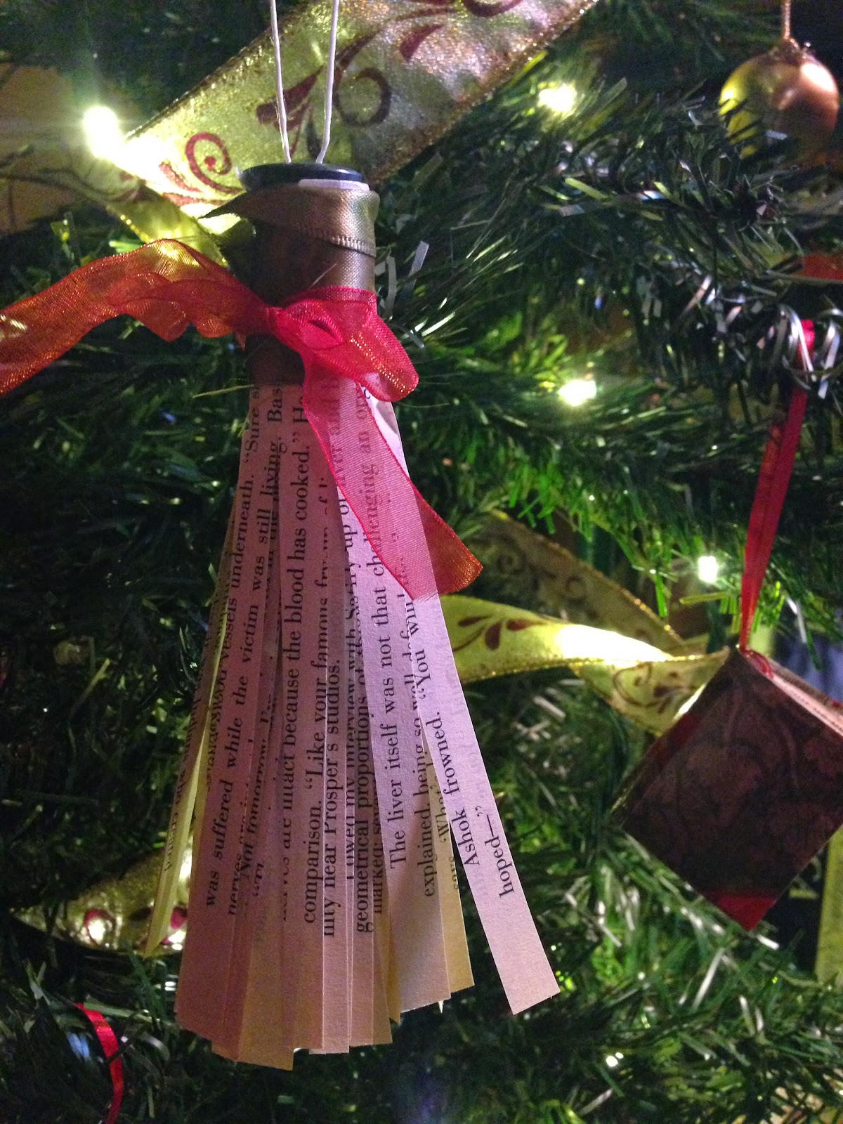 Christmas Ornament DIY - Awful Library Books |Library Book Ornaments