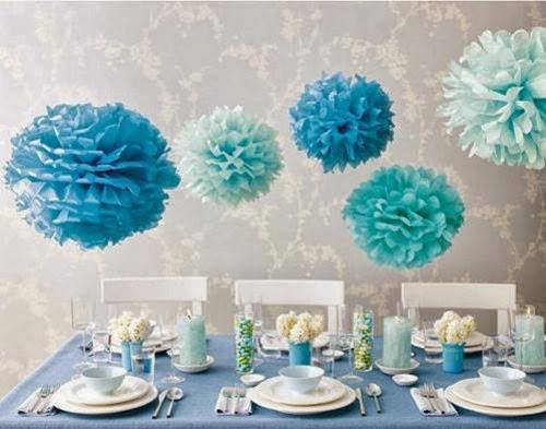 37 ideias para decorar com pompons de papel de seda gemelares - Deco boy ...