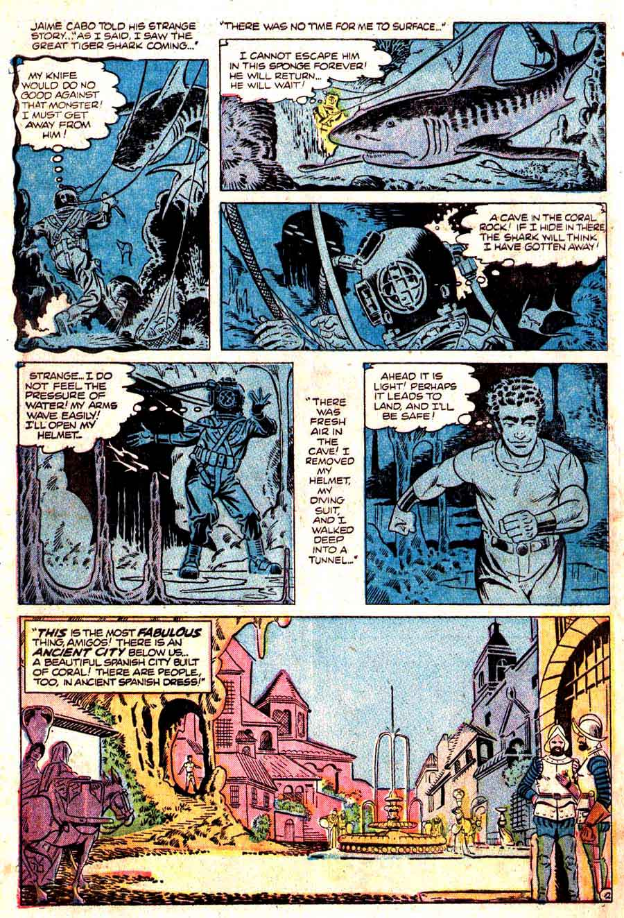 World of Suspense v1 #2 atlas comic book page art by Steve Ditko