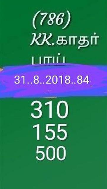 kerala lottery abc guessing nirmal nr-84 on 31.08.2018 by KK