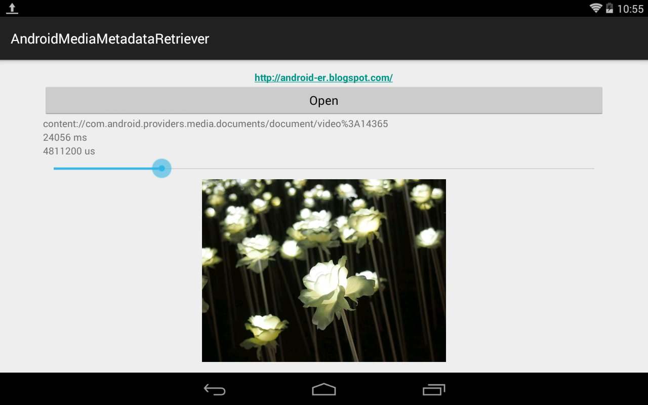 Android-er: Use MediaMetadataRetriever to retrieve frame