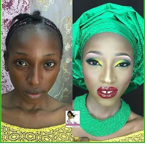 Check out this Before and After makeup transformation