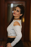 Manjusha in sleevelss crop top and black skirt at Darshakudu pre release ~  Exclusive Celebrities Galleries 006.JPG