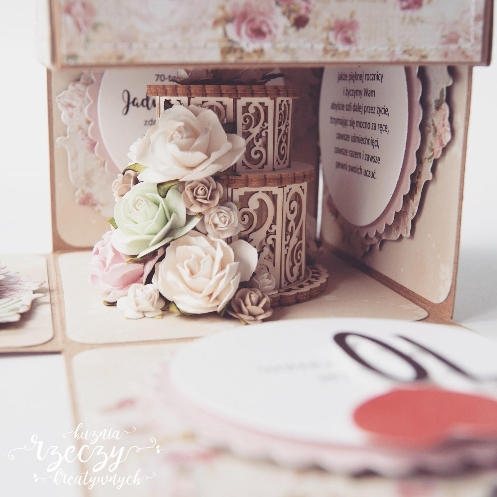 Exploding box z okazji 70. rocznicy ślubu.