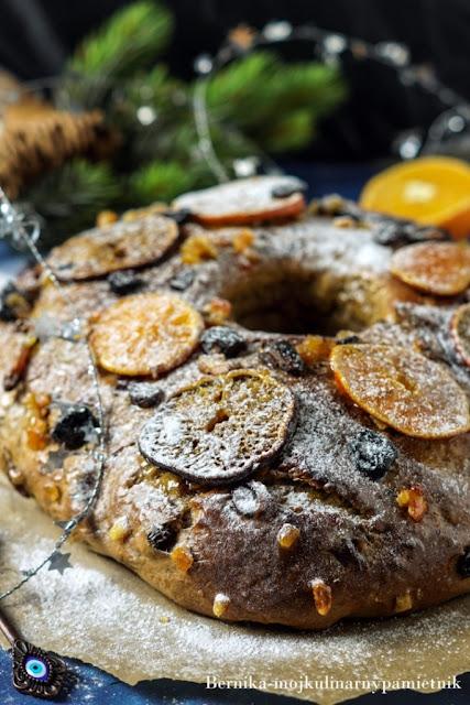 bolo rei, ciasto, drozdze, bakalie, pomarancza, trzech kroli, bernika, kulinarny pamietnik