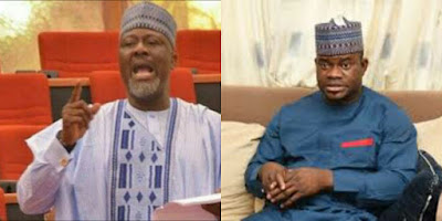 Photo of Senator Dino Melaye And Governor Yahaya Bello