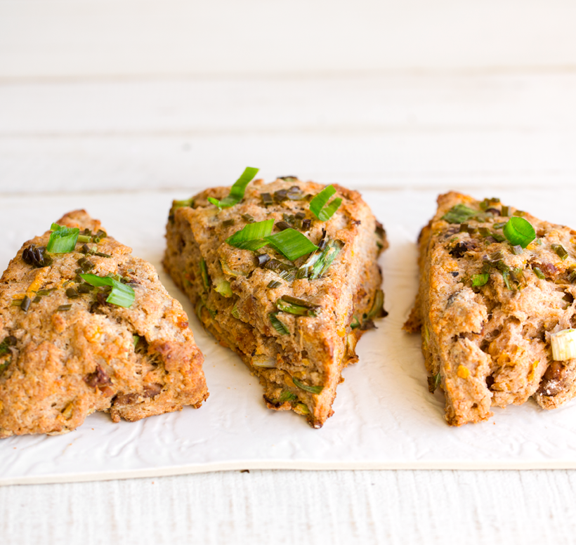 Vegan Cheddar Scallion Scones