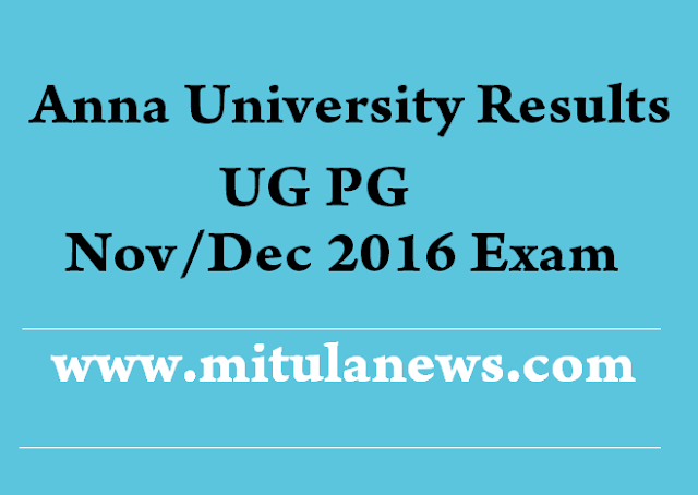 Anna University Nov Dec 2016 Results
