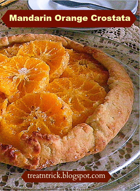 Mandarin Orange Crostata Recipe @ treatntrick.blogspot.com