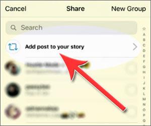 Cara Melakukan Repost Postingan ke Stories Instagram