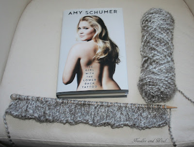 Yarn Along Wednesday: Front of the Sweater and Reading Amy Shumer's Book