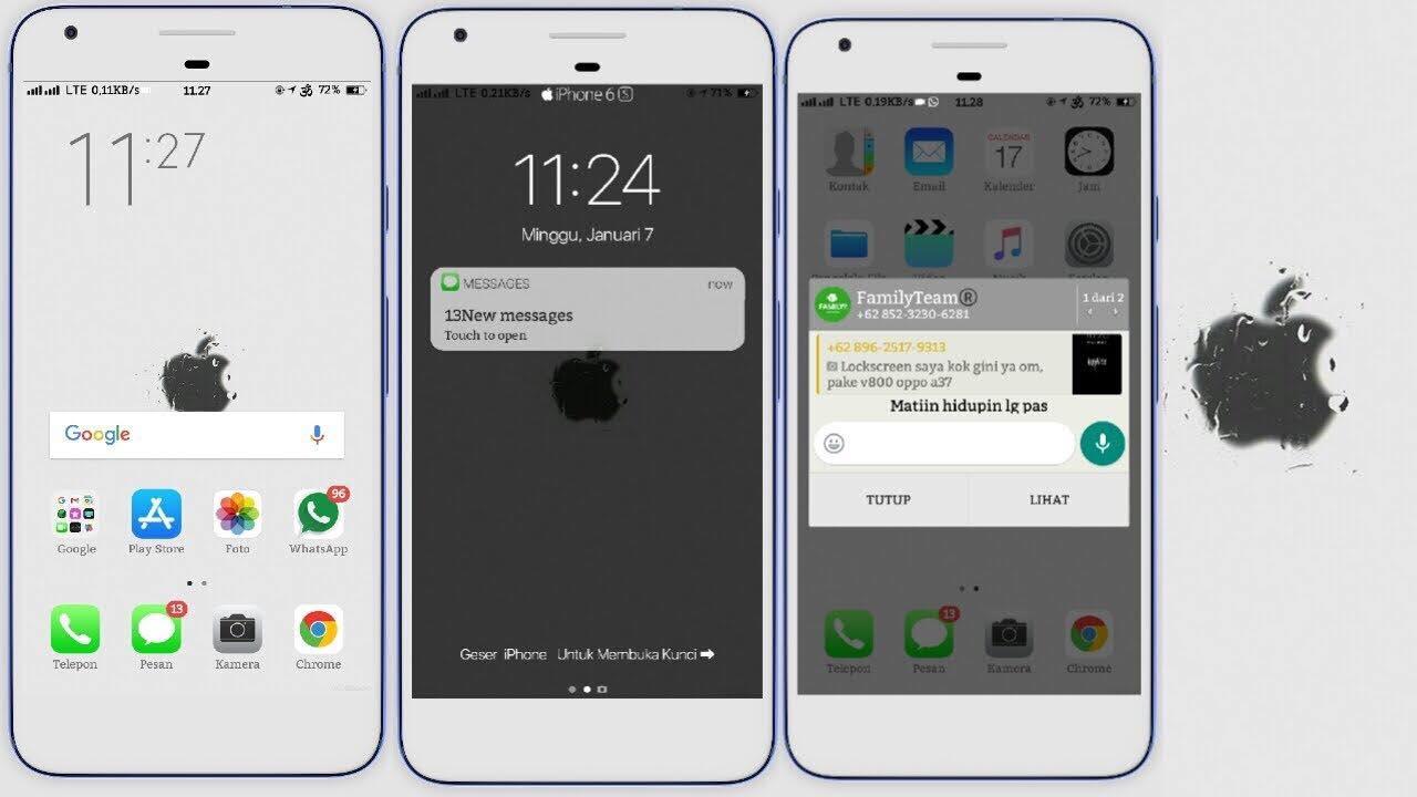 Cara Mengubah Tampilan HP Oppo Menjadi iPhone Work 1% - Zuramai