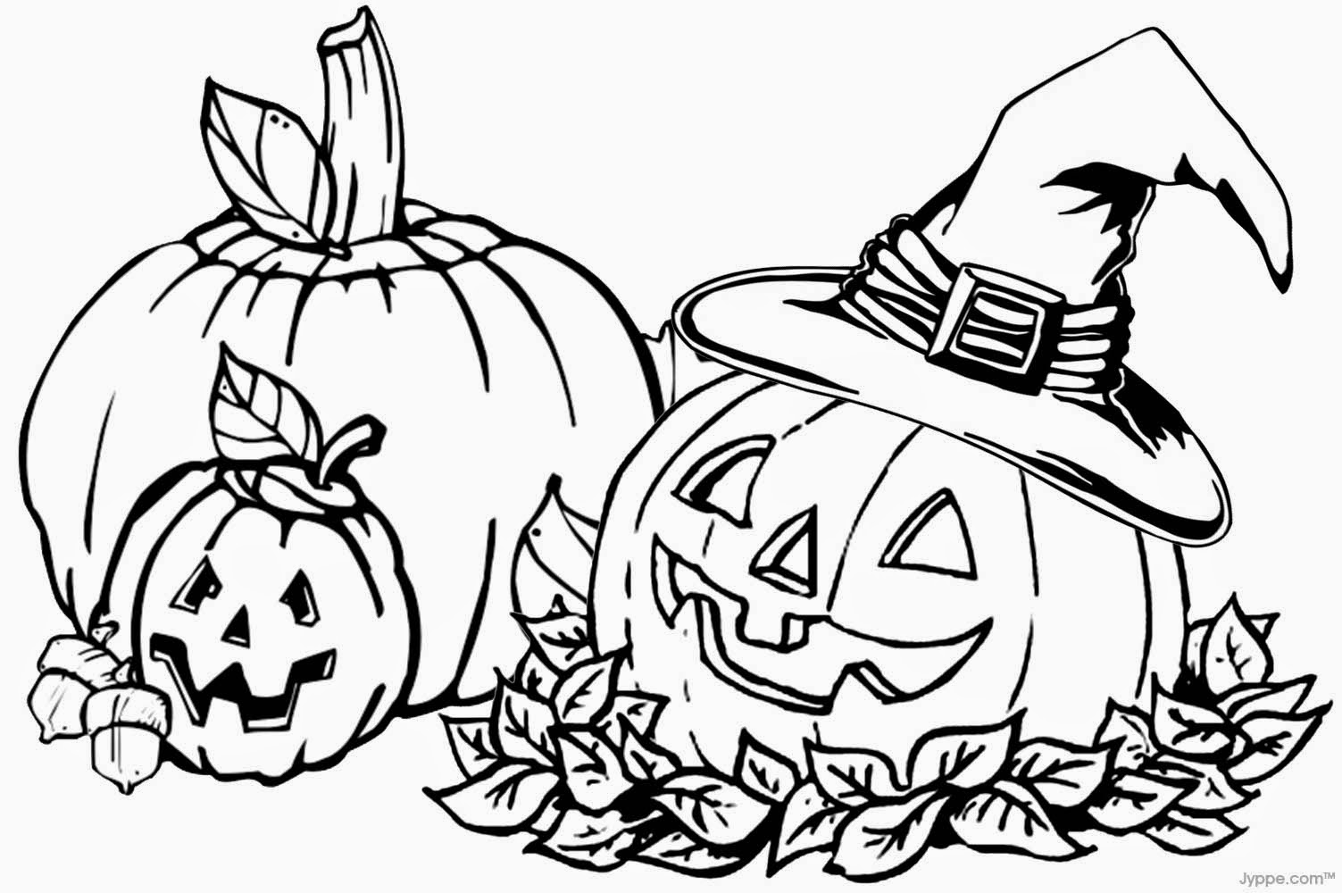 Free halloween jack o 39 lantern coloring pages for Jackolantern coloring pages